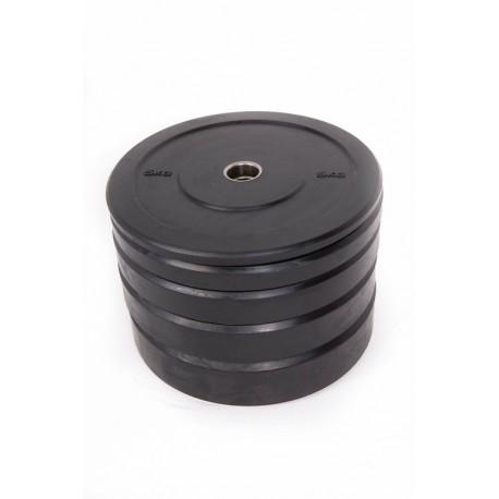 BLACK RUBBER BUMPER PLATE 15 kg.
