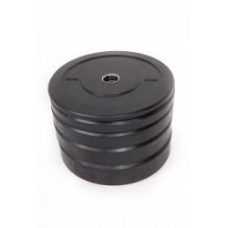 BLACK RUBBER BUMPER PLATE 25 kg.