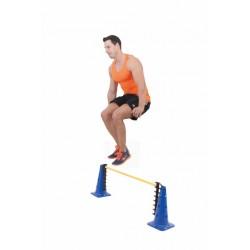 SET DE OBSTÁCULOS JUMP -Set de 2 conos con soportes y pica