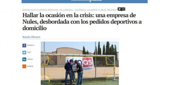 Hallar la ocasión en la crisis: una empresa de Nules, desbordada con los pedidos deportivos a domicilio